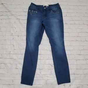 C'est New York Blue Gem Denim Jean Pants Size 10
